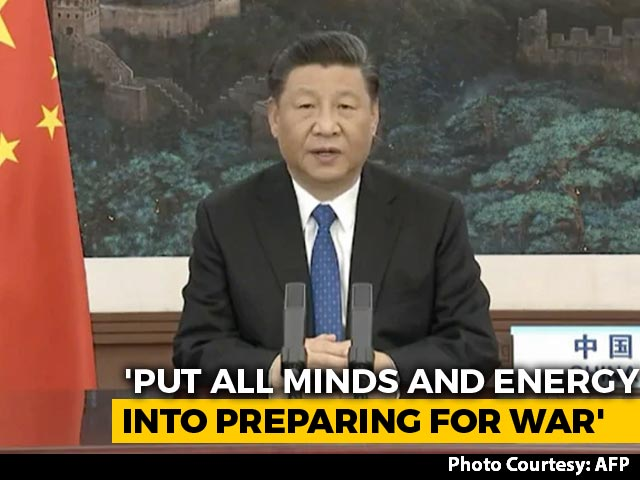"Video : China's Xi Jinping Asks Troops To Focus On ""Preparing For War"": Report"