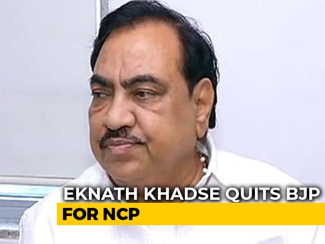 "Video : ""Devendra Fadnavis Destroyed My Life"": Eknath Khadse Quits BJP For NCP"