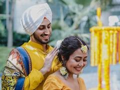More Stunning Pics From Neha Kakkar And Rohanpreet Singh's <I>Haldi</i> Ceremony