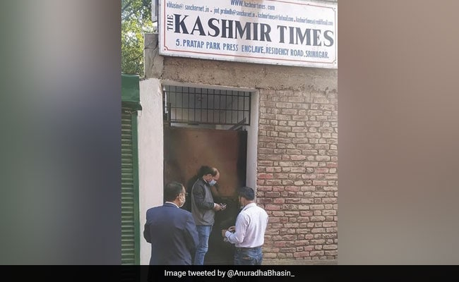 Leaders Criticise Sealing Of 'Kashmir Times' Office In Srinagar