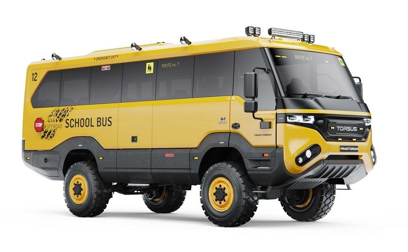 Torsus says the Praetorian school bus is intended for the toughest school run routes in the world