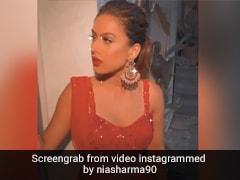 निया शर्मा ने लाल रंग के लहंगे में यूं दिखाया स्वैग, Video ने मचा डाली धूम
