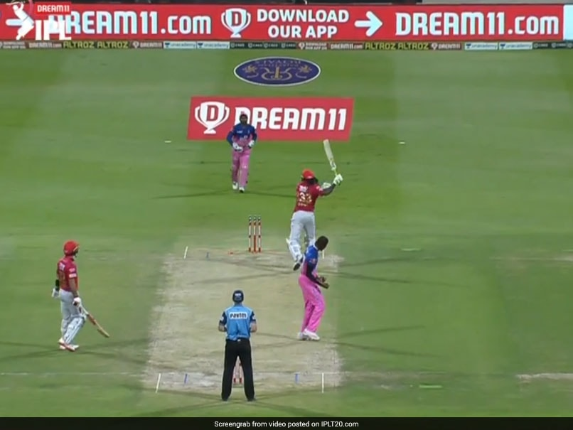 IPL 2020, KXIP vs RR: Chris Gayle Throws His Bat In Anger After Missing Century By One Run. Watch