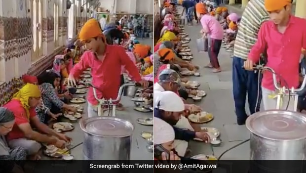 Gurudwara Distributes <i>Lassi</i> To Devotees With This Intelligent Device. Watch Viral Video