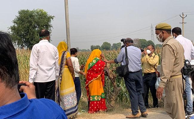 Hathras Victim's Mother Taken To Crime Scene By CBI After Hospital Visit - NDTV