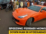Video : 50-Year-Old Killed After Being Run Over By Speeding Ferrari In Hyderabad