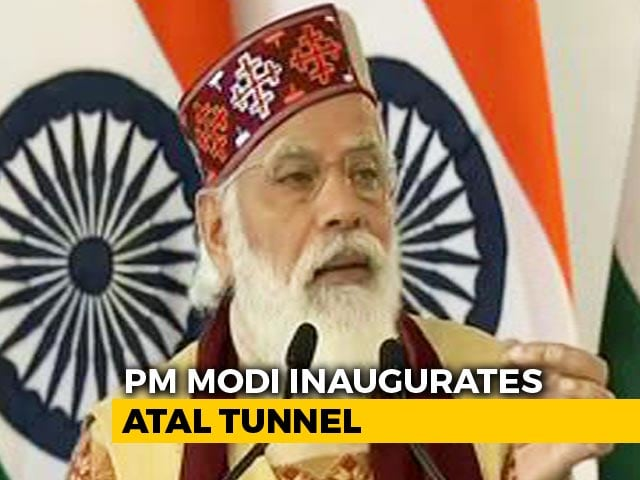 Video : PM Modi Inaugurates Strategically Important Atal Tunnel At Rohtang In Himachal