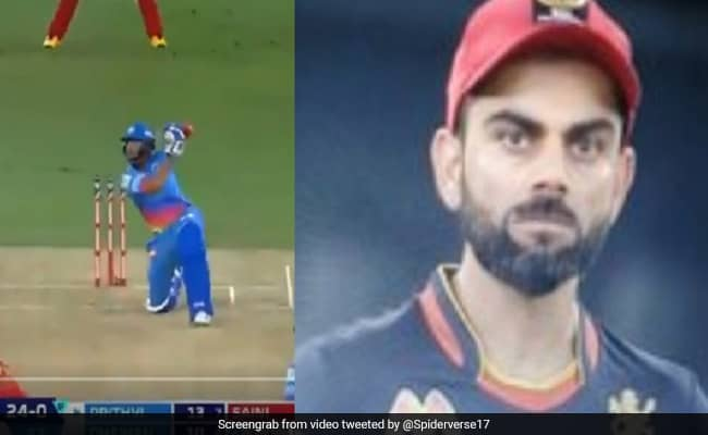 WATCH: Virat Kohlis reaction to Prithvi Shaws Six in RCB v DC match