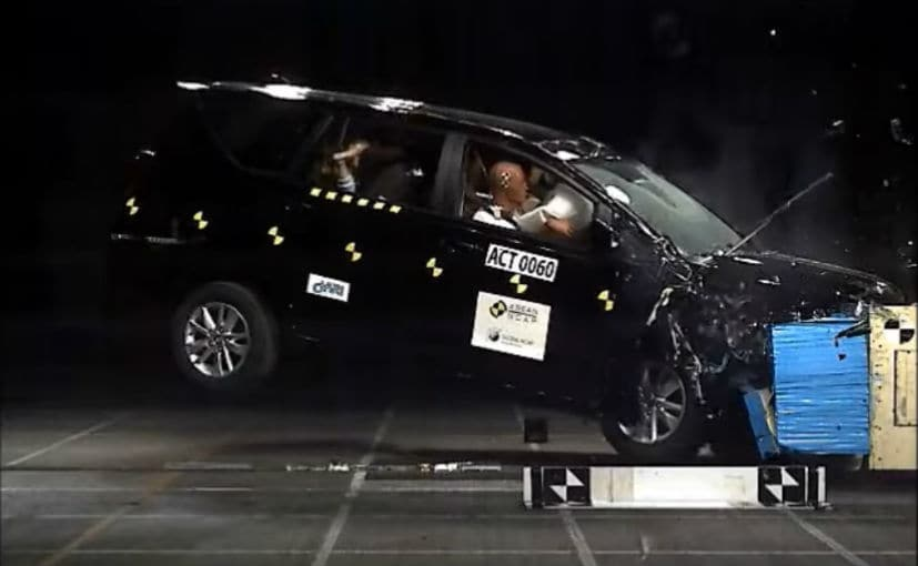 The 2021 Toyota Innova Crysta facelift scored 45.90 points for adult occupant safety