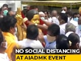 Video : Huge Crowds At AIADMK Foundation Day Event In Chennai, Social Distancing Violated