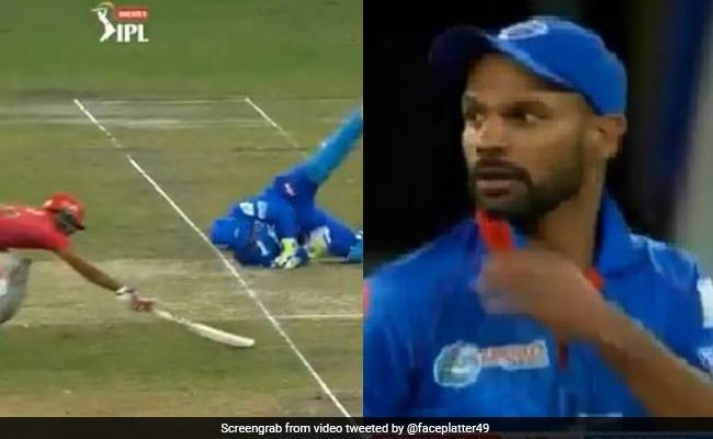 IPL 2020: धोनी की स्टाइल में निकोलस पूरन को रन आउट नहीं कर पाए Rishabh Pant, धवन ने गुस्से से देखा..देखें Video