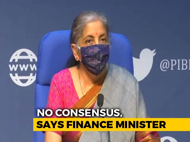 Video: No Consensus, Says Nirmala Sitharaman As 9 States Reject GST Solution