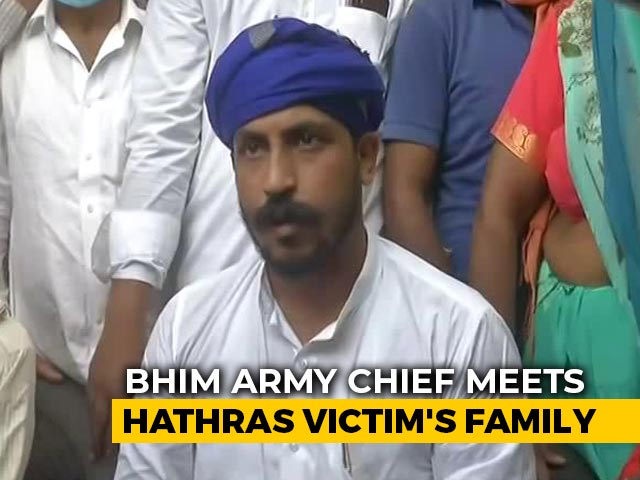 Video : Bhim Army Chief, Stopped Twice, Meets Hathras Victim's Family