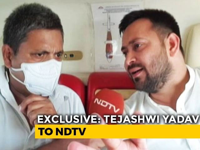 """Video : """"PM Can't Deliver Jobs So He's Attacking Me"""": Tejashwi Yadav To NDTV"""