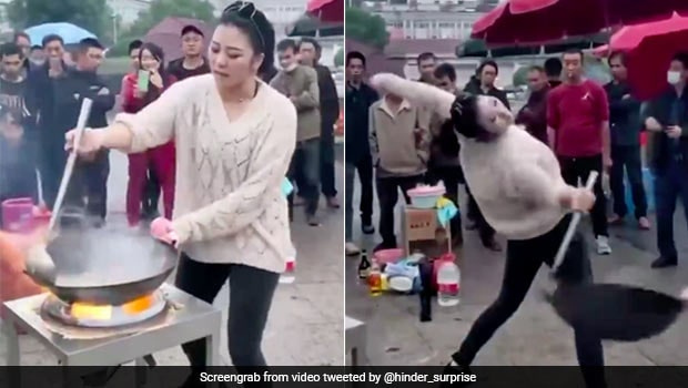 Viral Video: Woman Cooks Noodles In Wok While Dancing, Netizens Awestruck
