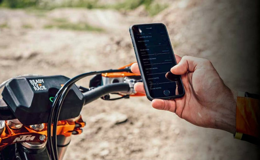 The myKTM app and Connectivity Unit is only for a few of KTM's off-road bikes