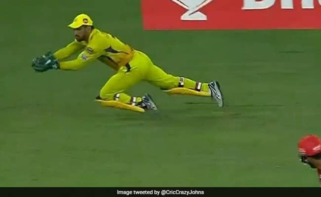 MS Dhoni becomes only the second wicket keeper after Dinesh Karthik to take 100 catches in IPL history.