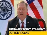 Video : US Stands With India To Deal With Any Threat: Pompeo On Galwan Clash