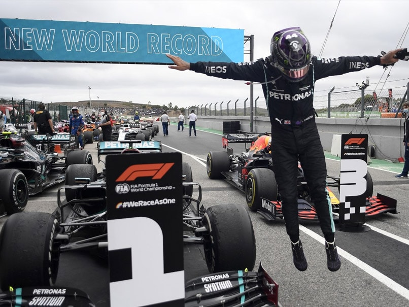 Lewis Hamilton wins the Portuguese Grand Prix to make Formula One history with his 92nd victory