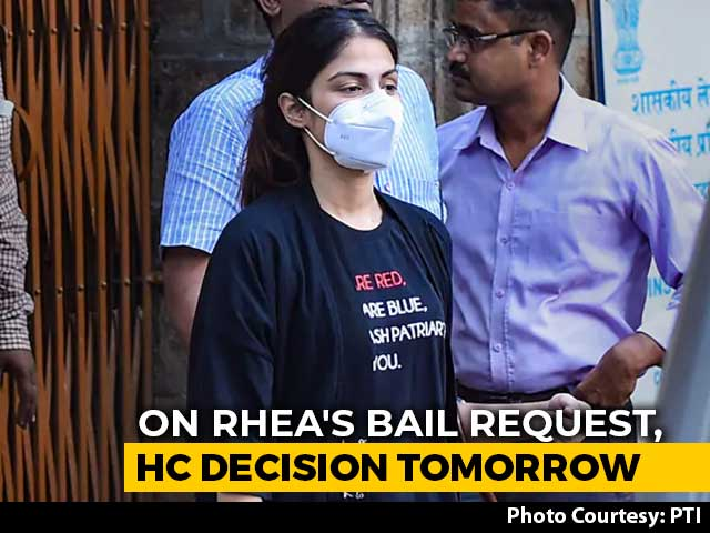 Video : On Rhea Chakraborty's Bail Request, Bombay High Court Decision Tomorrow