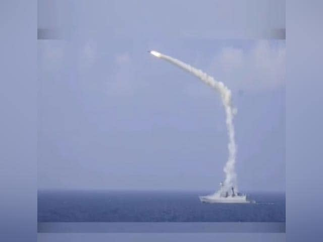 Video : Brahmos Anti-Ship Missile Fired From Indian Navy Destroyer