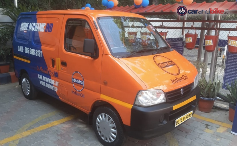 The first service van is placed at IOCs company-owned fuel retail outlet at Delhis Panchsheel Enclave