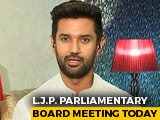 Video : Chirag Paswan's Party To Meet Over Bihar Polls, May Announce Candidates