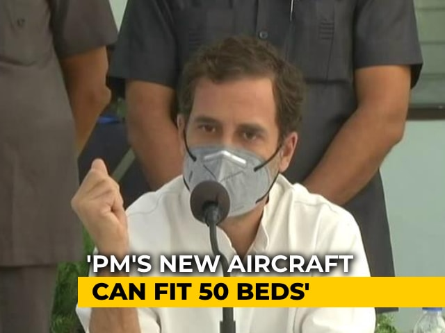 "Video : On ""Cushioned Sofas"" Barb, Rahul Gandhi Points To 8,400 Crore Plane For PM"