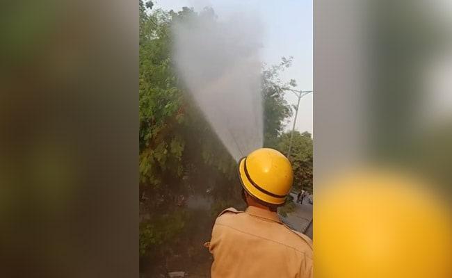 દિલ્હીમાં પ્રદૂષણને નિયંત્રણમાં રાખવા માટે ફાયર વિભાગે પાણીનો છંટકાવ શરૂ કરી દીધો છે