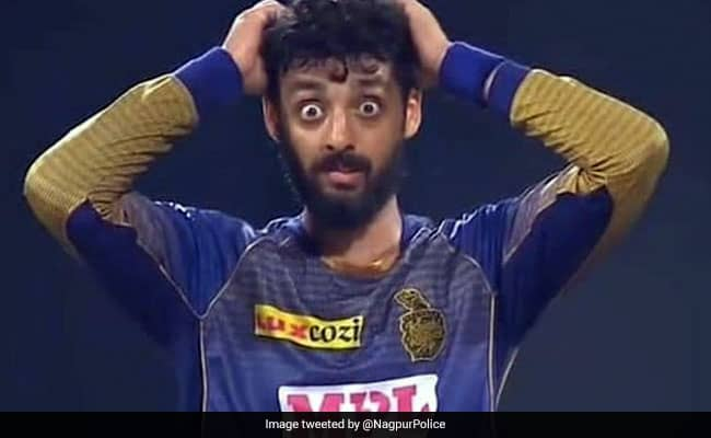 Nagpur Police use Varun Chakravarthy's hilarious picture to spread awareness about OTP fraud
