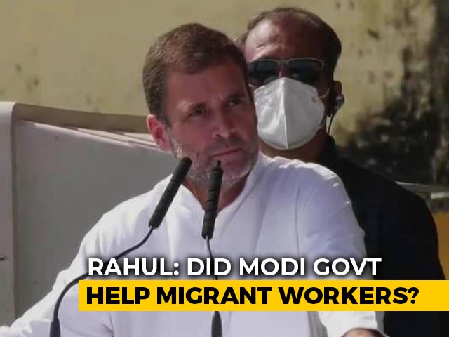"Video : ""PM Modi Bows Before Migrants But Refused To Help Them"": Rahul Gandhi"