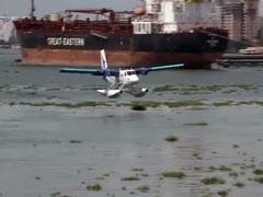 Watch: Seaplane Lands In Kerala Channel, Top Naval Officers Greet Crew
