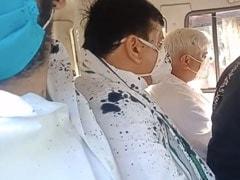 हाथरस: आप सांसद संजय सिंह और विधायक राखी बिड़लान पर फेंकी गई काली स्याही