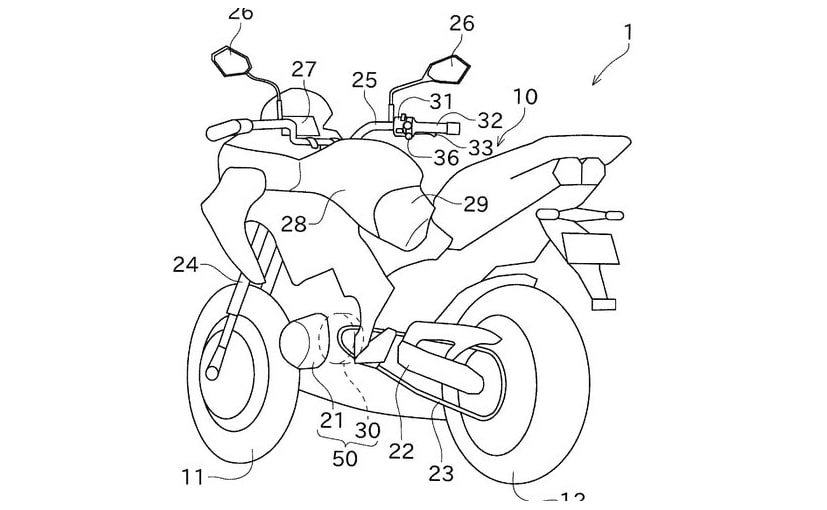 Latest patent images reveal Kawasaki's hybrid motorcycle technology