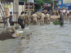 Watch: Daring Rescue In Hyderabad To Save Man Swept Away By Flood