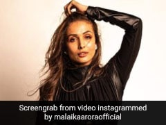 Autumn Fashion Done Right By Malaika Arora In A Chic Leather Dress