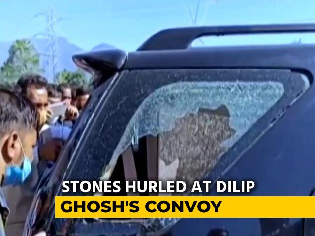 Video: Stones Hurled At Bengal BJP Chief's Convoy, Several Injured