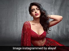 Alaya Furniturewala Is Festive Ready In A Stunning Red Lehenga