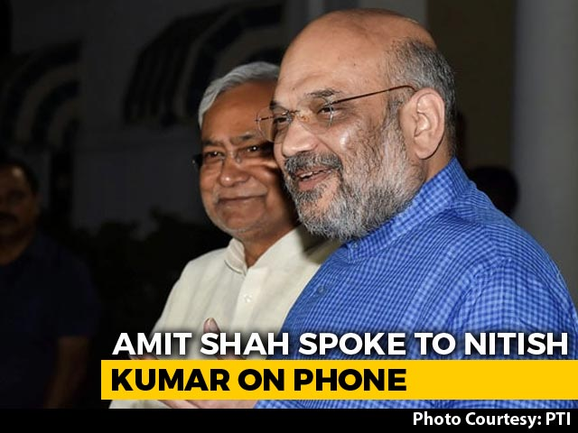 Video : Amit Shah, Nitish Kumar Talk As NDA Keeps Lead In Bihar