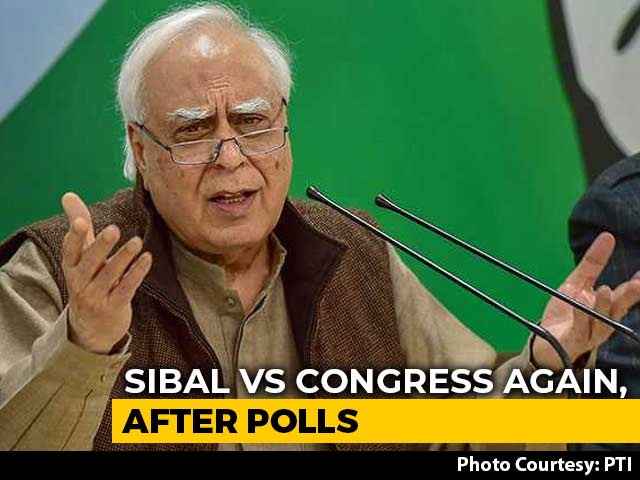 Video : Congress Leadership Thinks Should Be Business As Usual: Kapil Sibal