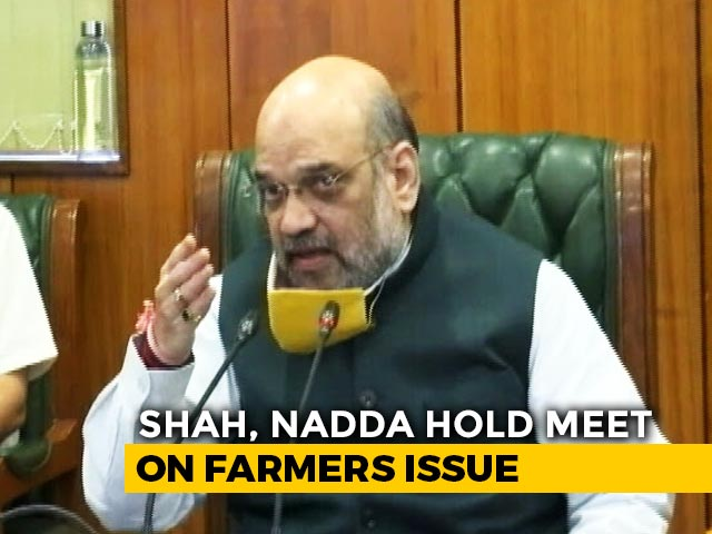 Video : Amit Shah, Top BJP Leaders In Late Night Meet After Farmers Refuse Offer