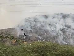 Video: Massive Landfill Catches Fire In Delhi Amid Air Quality Concerns