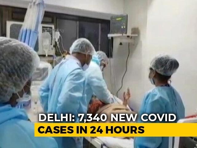 Video : Delhi's Covid Surge Continues With 7,340 New Cases, 96 Deaths
