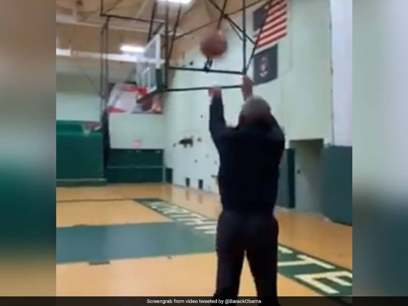 """Thats What I Do"": Barack Obama Nonchalantly Buries 3-Pointer In Viral Video. Watch"