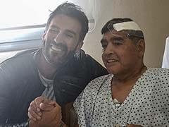 Diego Maradona Leaves Hospital Following Surgery
