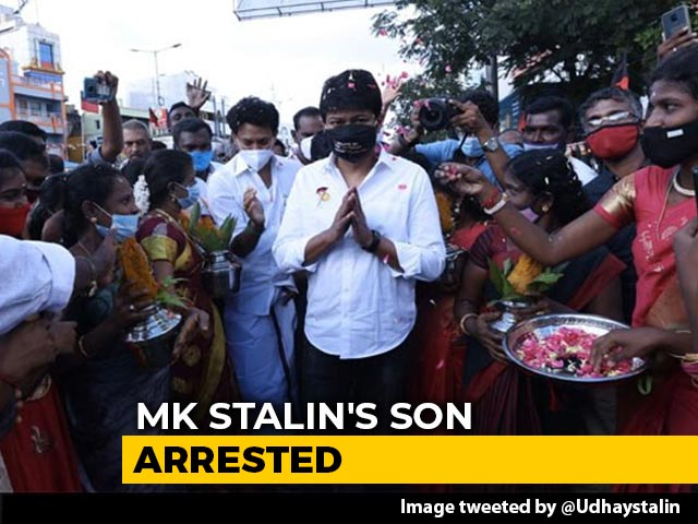 Video : MK Stalin's Son Arrested Over Rally Launching DMK's Election Campaign