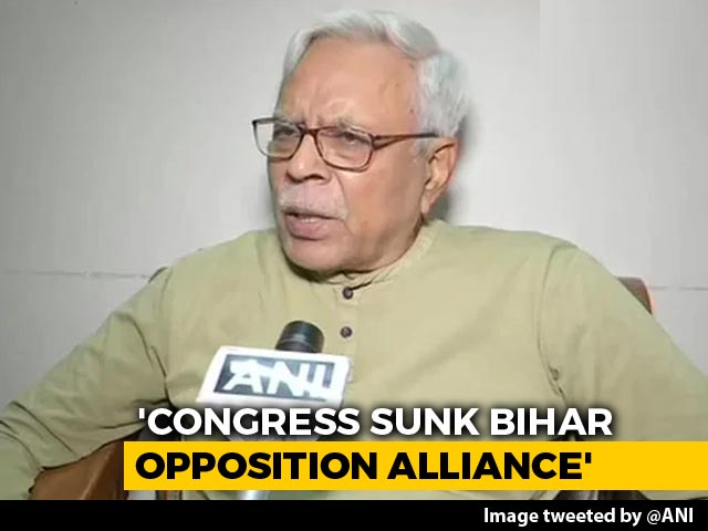 Video : Congress Sank Bihar Opposition Alliance, Says Tejashwi Yadav Party's Leader