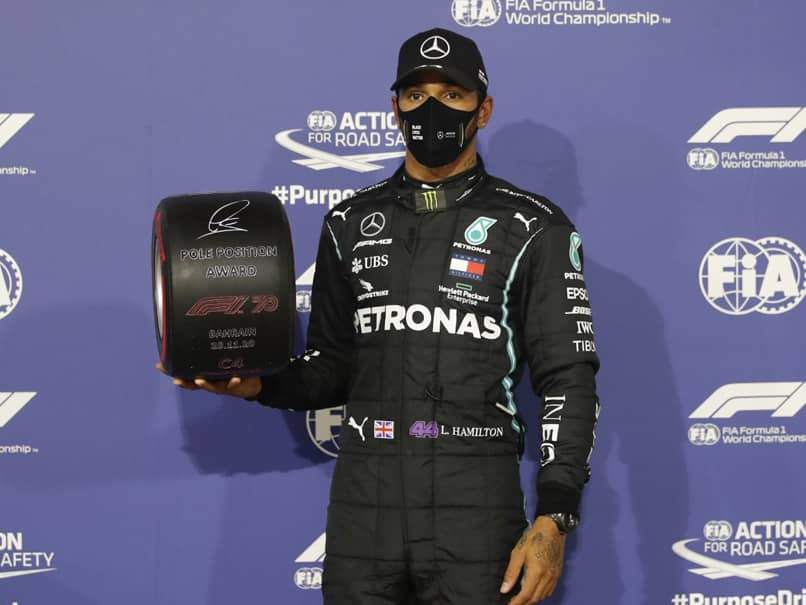 Bahrain GP: Lewis Hamilton Scorches To Pole In Bahrain With Record-Breaking Lap