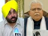 Video : AAP MP Bhagwant Mann Slams Haryana Government Over Farmers' Protest