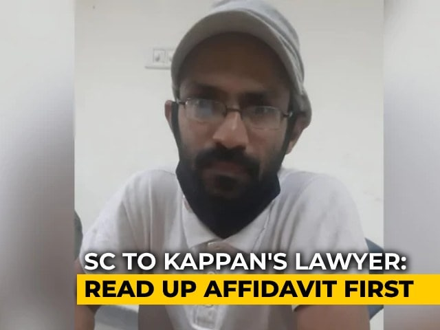 "Video : Kerala Journalist Was Going To Hathras ""To Create Caste Divide"": UP To Top Court"